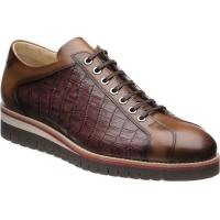 herring floyd in tan calf and burgundy mock-croc