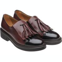 herring miranda in burgundy calf and polished