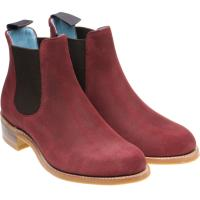 herring tamara in plum suede