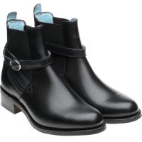 herring jodie in black calf with navy calf strap