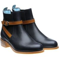 herring jodie in navy calf with cedar calf strap