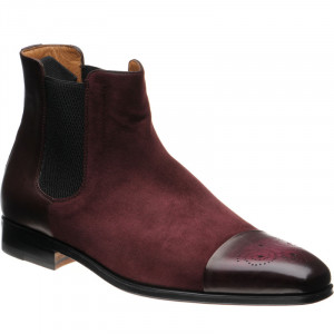 Crema in Burgundy Calf and Suede