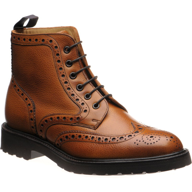 Corsham rubber-soled brogue boots