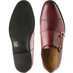 Bishop rubber-soled double monk shoes