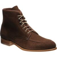 herring pocklington in brown suede