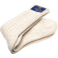 herring donegal ladies wool sock in ecru