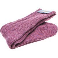 herring donegal ladies wool sock in heather