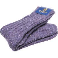 herring donegal ladies wool sock in lilac