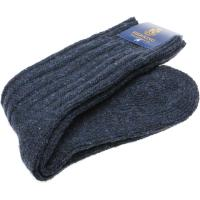 herring donegal ladies wool sock in navy