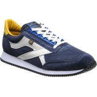 herring voyager trainer in navy suede and white calf