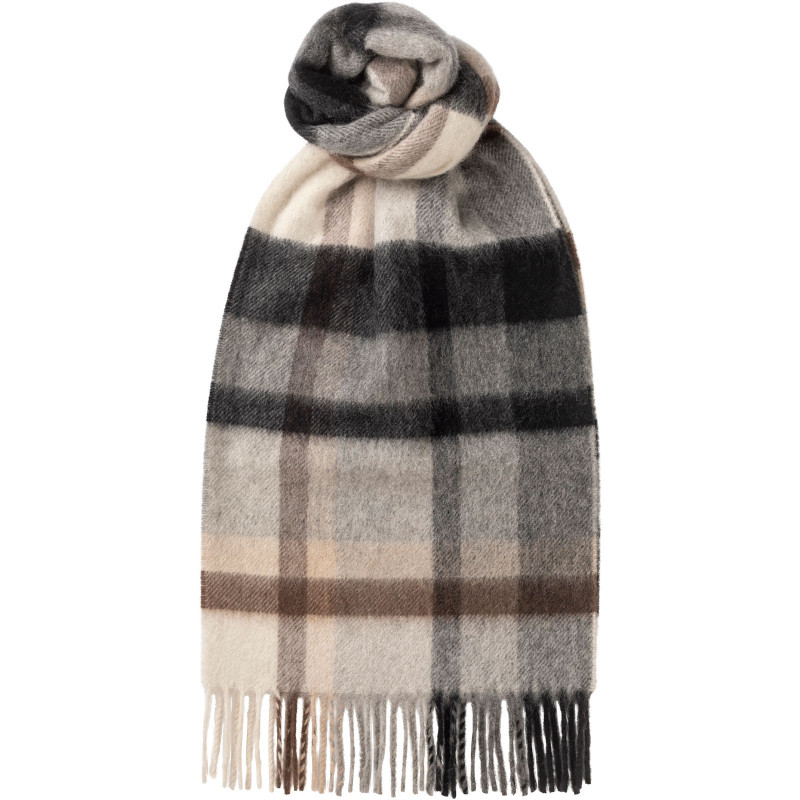 Stepping Check Cashmere Scarf