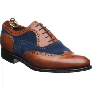 Herring Fencote in Chestnut calf and Navy suede