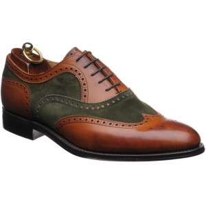 Herring Fencote in Chestnut Calf and Green Suede
