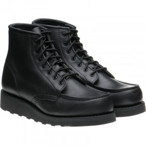 Ladies 6-Inch Classic moc in Black Boundary Leather
