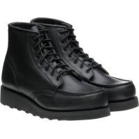 red wing ladies 6-inch classic moc in black boundary leather