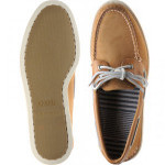 A/O Tumbled rubber-soled Derby shoes