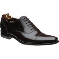 loake sharp in dark brown polished