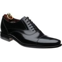 loake sharp in black polished