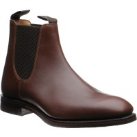 loake chatsworth rubber in brown waxy calf