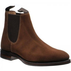 Loake Chatsworth (Rubber) in Brown Suede