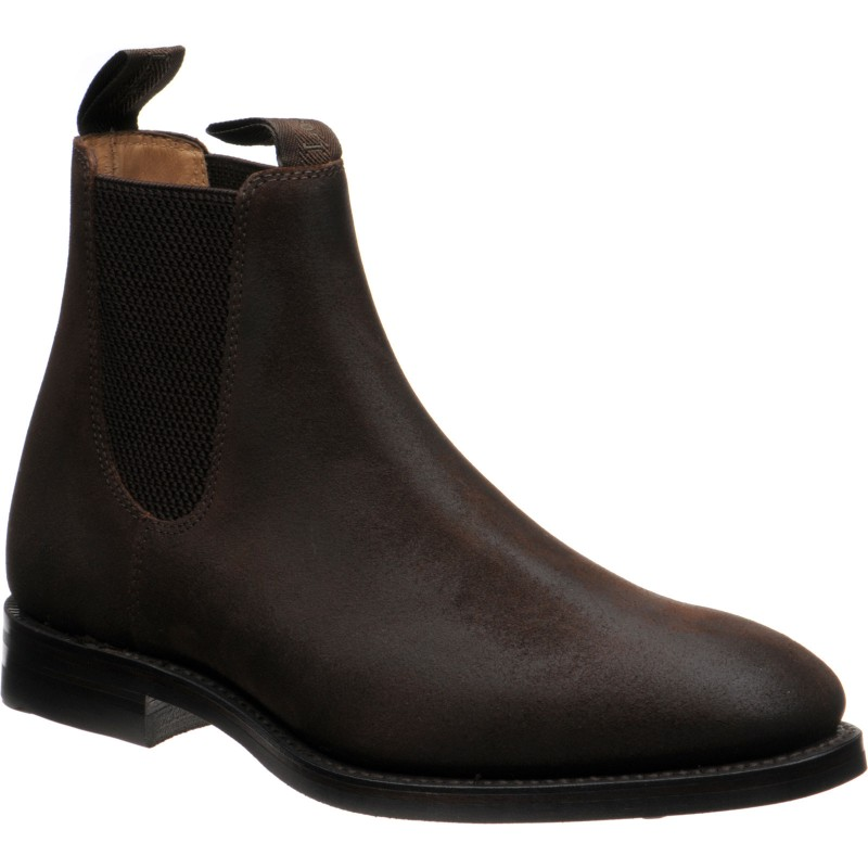Dark Brown Waxed Suede at Herring Shoes