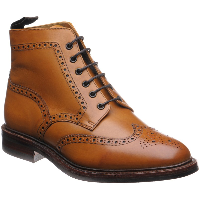 Loake Wolf (Warm Lined) rubber-soled brogue boots