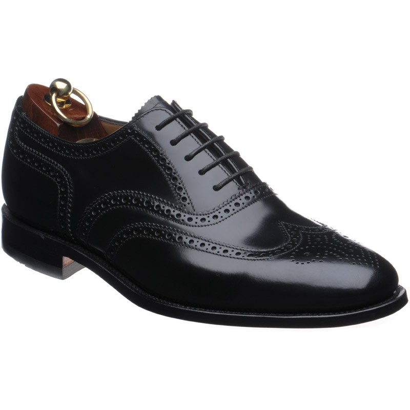 1c2e3c9c Loake shoes | Loake 1 | 202 brogues in Black Polished at Herring Shoes