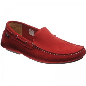 Loake Donington in Red Suede