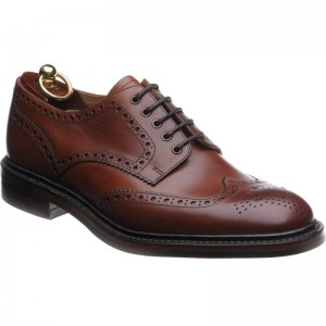 loake chester rubber in mahogany calf