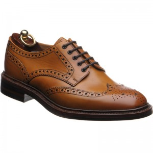 loake chester rubber in tan calf
