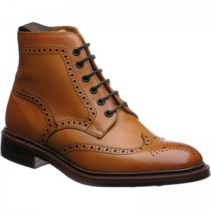 Loake Burford  rubber-soled brogue boots