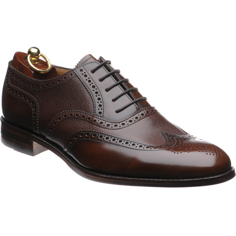 Loake Lowick two-tone rubber-soled brogues