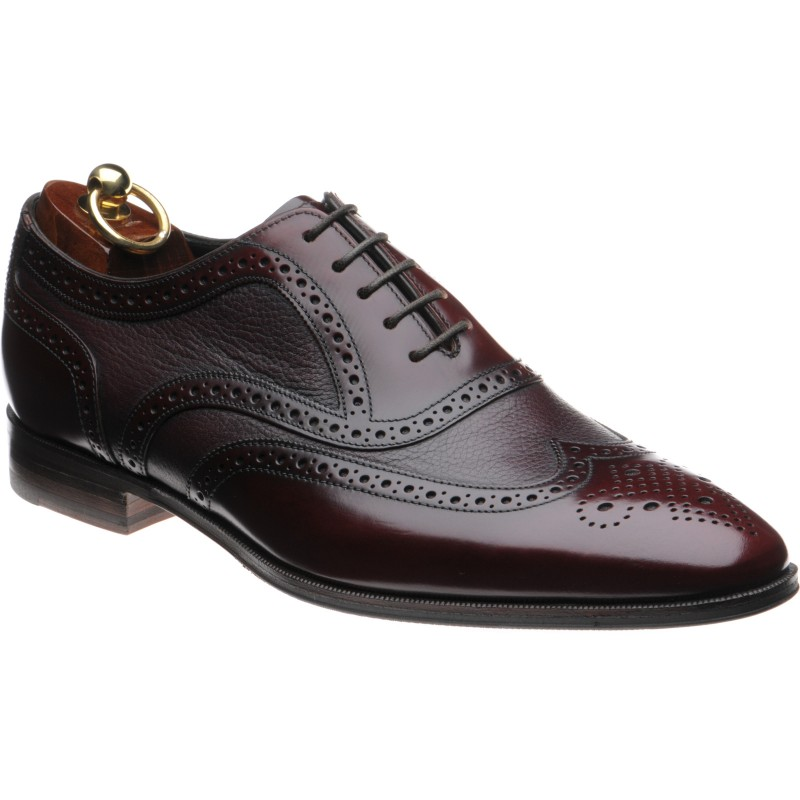 Baskerville two-tone rubber-soled brogues