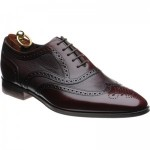 Loake Baskerville two-tone rubber-soled brogues