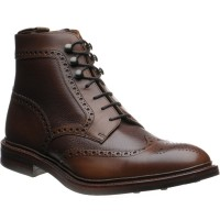 Loake Bosworth two-tone rubber-soled brogue boots