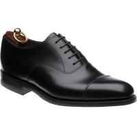 loake aldwych rubber in black calf