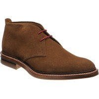 loake sandown in brown suede