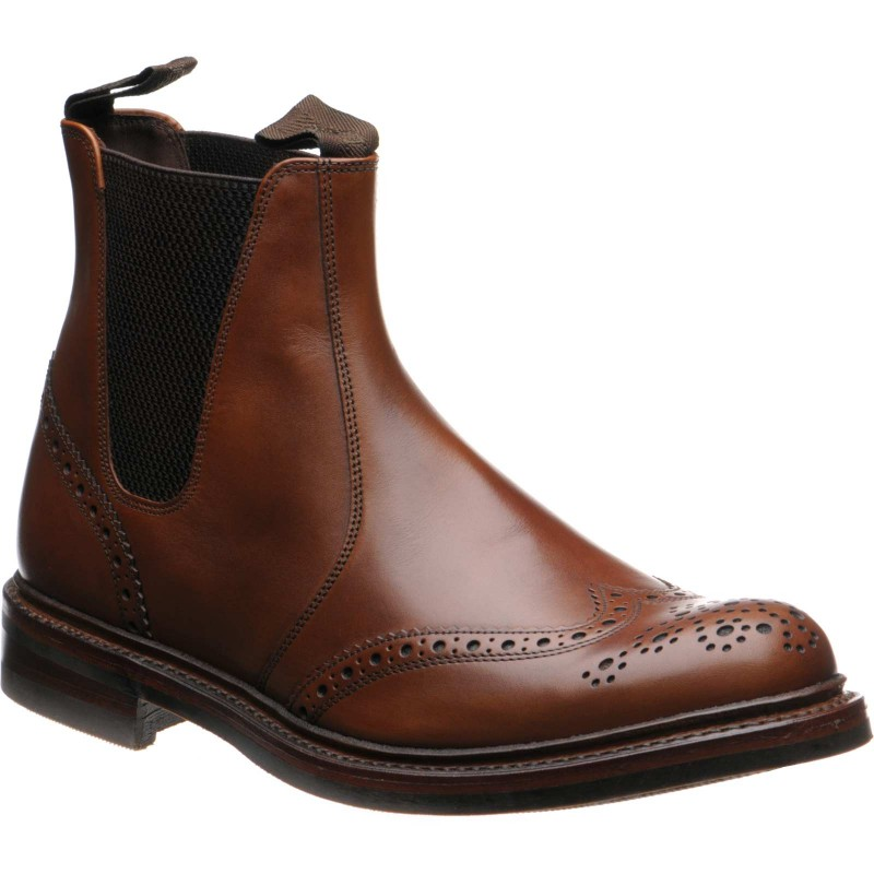 Enfield rubber-soled brogue boots