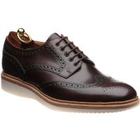 loake cobra in handpainted dark brown calf