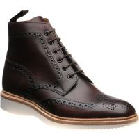 loake mamba in handpainted dark brown calf