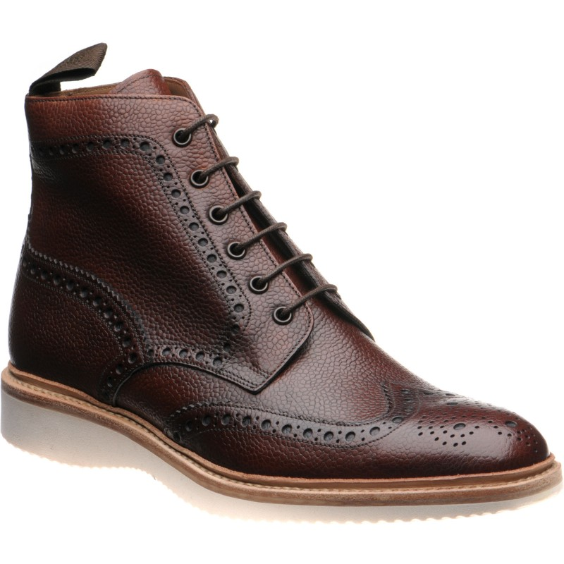 Mamba rubber-soled brogue boots