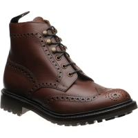 loake glendale in brown waxed calf