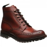 Glendale rubber-soled brogue boots