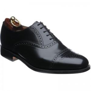 e39b2fb9 Loake shoes   Loake Shoemaker   Oban in Black Polished at Herring Shoes