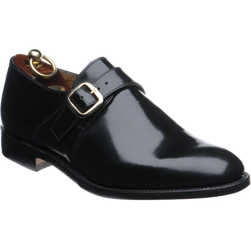 22c4ca70d1 Loake shoes | Loake Shoemaker | Paisley monk shoes in Black Polished ...