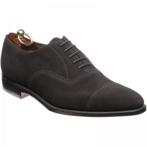 loake aldwych in chocolate brown suede