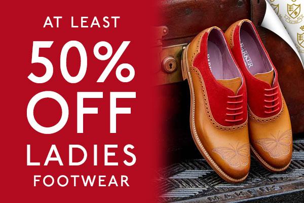 Ladies sale at least 50% off