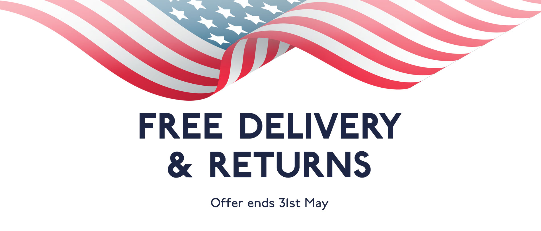 Free delivery and returns to the USA