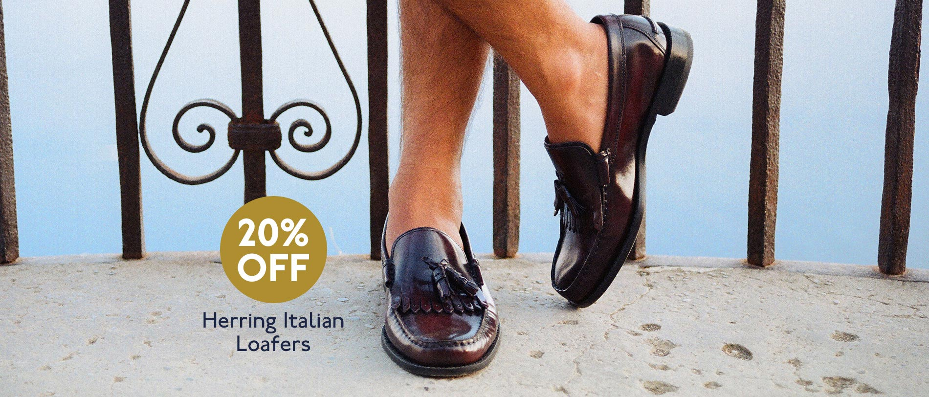 Italian handmade loafers 20% off this June