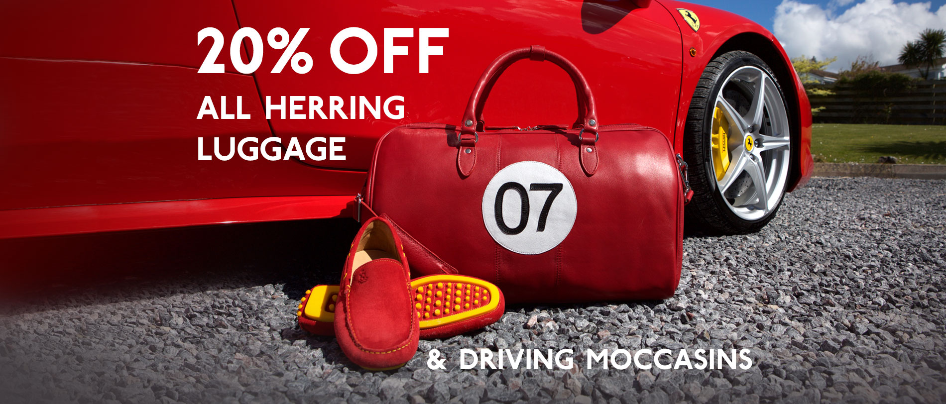 20% off Luggage and Driving Moccasins this April